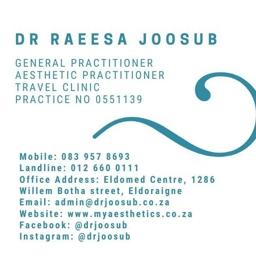 Photo of Dr. Raeesa Joosub